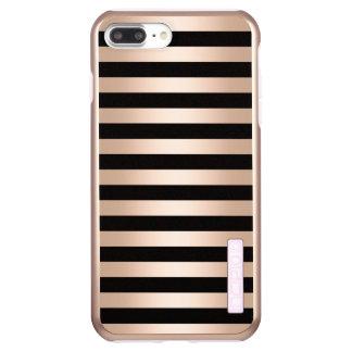 Elegantes modernes Küken-Rosen-Goldschwarzes Incipio DualPro Shine iPhone 8 Plus/7 Plus Hülle