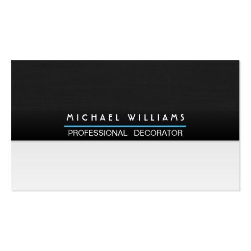 ELEGANTES MODERNES MINIMALISTISCHES Metall PROFESS Visitenkartenvorlage