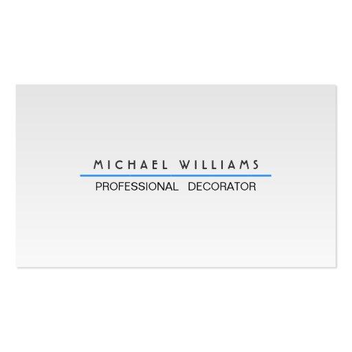 ELEGANTES MODERNES MINIMALISTISCHES Metall PROFESS Visitenkartenvorlagen