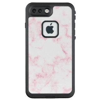 elegantes modernes Pastellrosa- und Weiß-Imitat LifeProof FRÄ' iPhone 8 Plus/7 Plus Hülle
