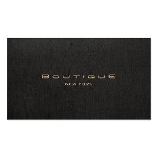 Elegantes modernes schwarzes Leinenberufliches Visitenkarten