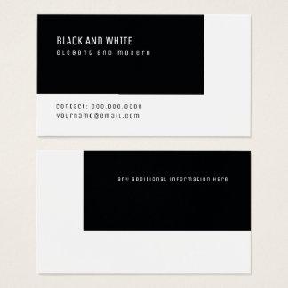 elegantes modernes Schwarzweiss-minimales Visitenkarte