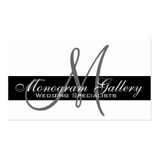 Elegantes Monogramm-kundengerechte Visitenkarte