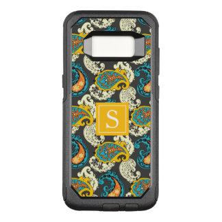 Elegantes Monogramm-mit Filigran geschmückter OtterBox Commuter Samsung Galaxy S8 Hülle