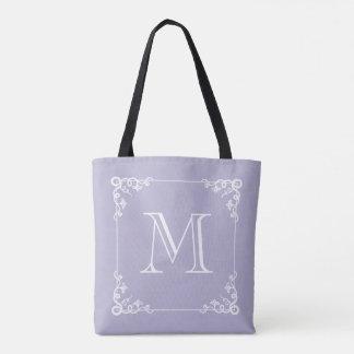 Elegantes Monogramm-Pastelllila oder IRGENDEINE Tasche