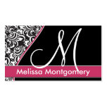 Elegantes Monogrammgeschäft - Visitenkarte