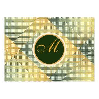 Elegantes Muster-Grün Jumbo-Visitenkarten