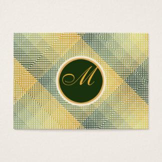 Elegantes Muster-Grün Visitenkarte