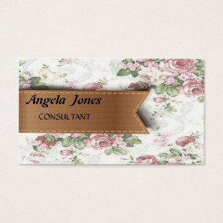 Elegantes niedliches Vintages Blumenmuster Visitenkarte