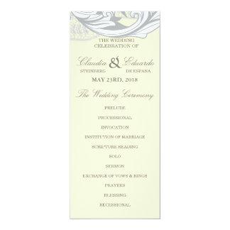 Elegantes nobles Blumen - Sand, Gelb, grau 10,2 X 23,5 Cm Einladungskarte