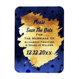 Elegantes nobles Imitat-Gold, das Save the Date Magnet