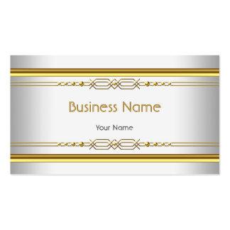 Elegantes nobles weißes GoldUnternehmens-Profil Visitenkarten