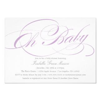 Elegantes oh Baby Babyparty-der Einladung in des