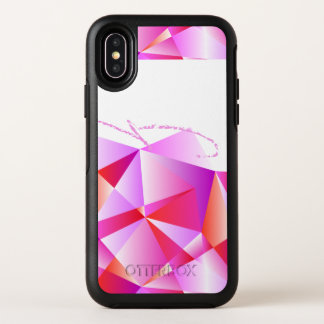 Elegantes Ombre geometrisches gemustertes OtterBox Symmetry iPhone X Hülle