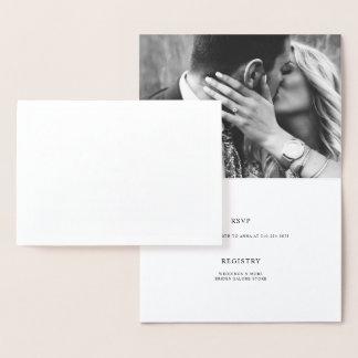 Elegantes Paar-Duschen-Verlobungs-Foto Folienkarte