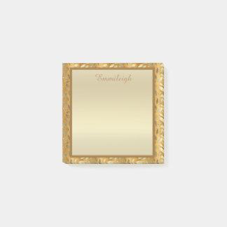 Elegantes personalisiertes Gold verlässt Post-it Klebezettel