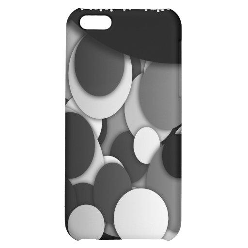 Elegantes Polkapunkte Schwarz-weißes dotty iPhone 5C Hüllen