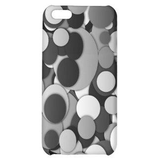 Elegantes Polkapunkte Schwarz-weißes dotty Hüllen Für iPhone 5C