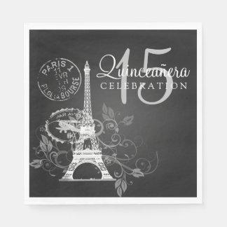 Elegantes Quinceanera Party-Paris-Schwarzes Serviette