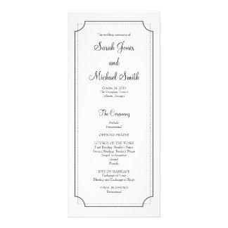 Elegantes Rahmen-Hochzeits-Programm Bedruckte Werbekarte