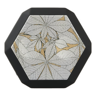 Elegantes Retro Blatt-Muster Schwarze Bluetooth Lautsprecher