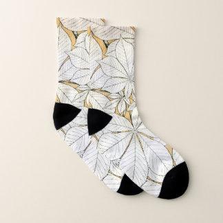 Elegantes Retro Blatt-Muster Socken