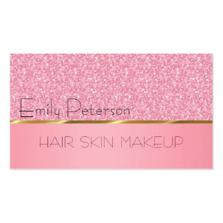 Elegantes rosa Glitter-Muster Visitenkarten Vorlagen