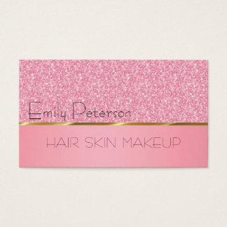 Elegantes rosa Glitter-Muster Visitenkarten