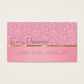 Elegantes rosa Glitzer-Muster Visitenkarte
