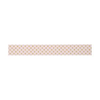 Elegantes Rosa-und GoldGlitter-Polka-Punkt-Muster Einladungsbanderole