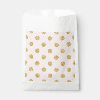 Elegantes Rosa-und GoldGlitter-Polka-Punkt-Muster Geschenktütchen
