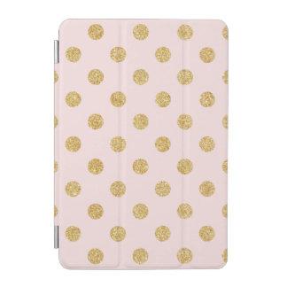 Elegantes Rosa-und GoldGlitter-Polka-Punkt-Muster iPad Mini Hülle