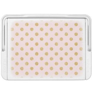 Elegantes Rosa-und GoldGlitter-Polka-Punkt-Muster Kühlbox