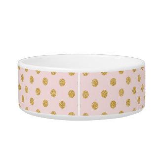 Elegantes Rosa-und GoldGlitter-Polka-Punkt-Muster Napf