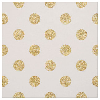 Elegantes Rosa-und GoldGlitter-Polka-Punkt-Muster Stoff