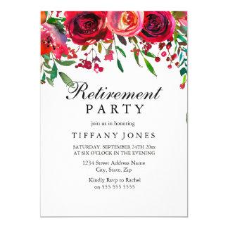 Elegantes Rosen-Blumen-Ruhestands-Party laden ein Karte