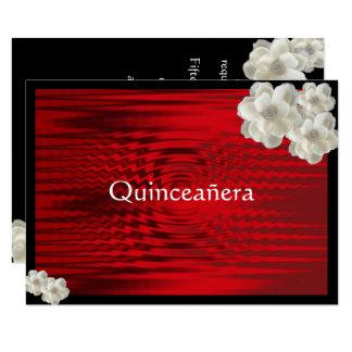 Elegantes Rot, Quinceanera, 16. 11,4 X 15,9 Cm Einladungskarte