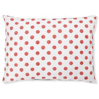 Elegantes rotes Glitter-Polka-Punkt-Muster Haustierbett