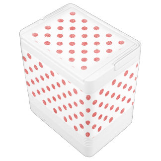 Elegantes rotes Glitter-Polka-Punkt-Muster Igloo Kühlbox