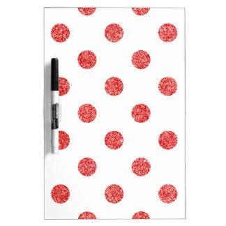 Elegantes rotes Glitter-Polka-Punkt-Muster Trockenlöschtafel