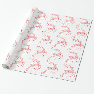 Elegantes rotes Ren Geschenkpapier