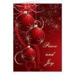 Elegantes rotes Weihnachten Karte