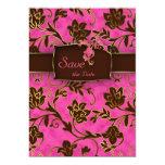 Elegantes Save the Date Karten-Goldrosa Brown mit Einladungen