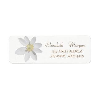 Elegantes schickes einfaches, weißes Rückversand-Adressaufkleber