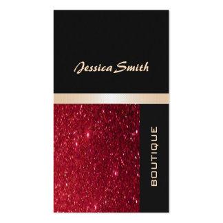 Elegantes schickes zeitgenössisches rotes visitenkarten