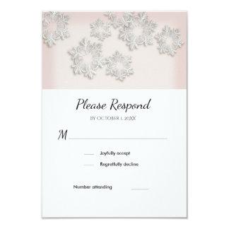 Elegantes Schneeflocke-Winter-Hochzeit UAWG flache Karte
