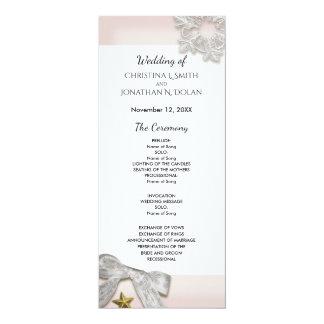 Elegantes Schneeflocke-Winter-Hochzeits-Programm Karte