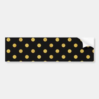 Elegantes Schwarz-und Goldfolien-Tupfen-Muster Autoaufkleber