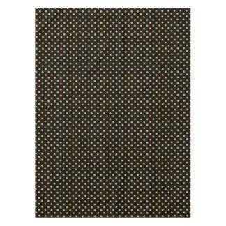 Elegantes Schwarz-und Goldfolien-Tupfen-Muster Tischdecke