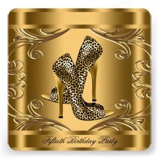 Elegantes Schwarz-und Goldgeburtstags-Party Personalisierte Ankündigung